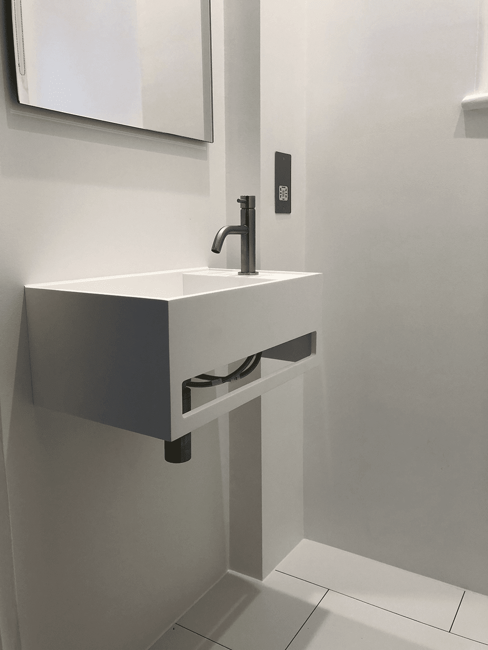Sink Installation in Cloakroom