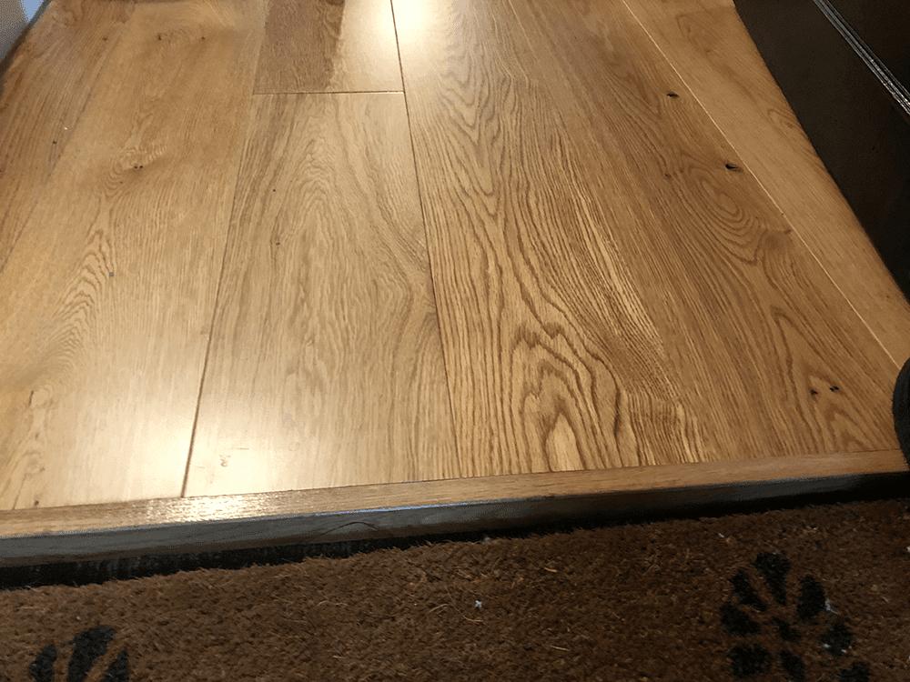 Close Up Flooring Installation