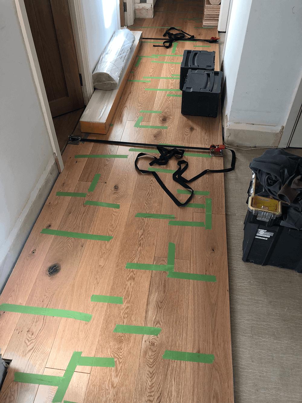 Flooring Installation in Progress